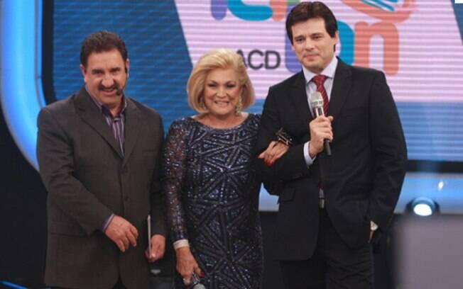 Ratinho, Hebe Camargo e  Celso Portiolli