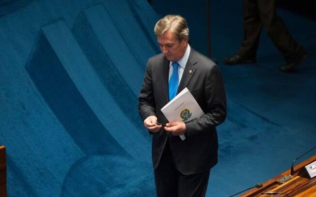 O ex-presidente Fernando Collor: quase duas décadas após perder cargo, ele voltou a Brasília, no Senado Federal