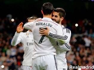 Cristiano Ronaldo anotou o gol do time de Madri, de pênalti, no segundo tempo