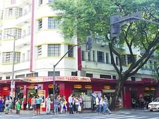 Desafio. Fachada da loja Ricardo Eletro na rua Curitiba, no Centro de BH, onde acontecerá a venda