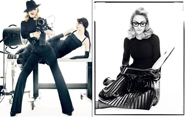 Madonna e Andrea Riseborough fizeram várias poses intrigantes para a publicação
