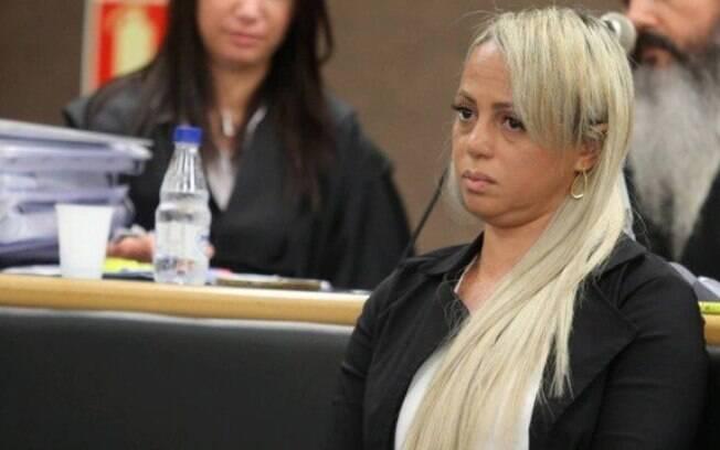 Adriana Ferreira Almeida durante o seu julgamento, em 2016