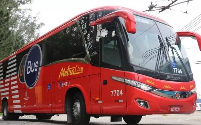 Os ônibus por aplicativo foram impedidos de circularem em São Paulo.