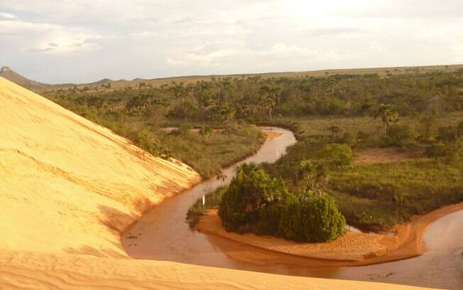 As dunas do Jalapão, parte do processo de desertificação das falésias da Serra do Espírito Santo