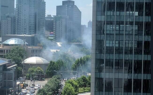 Explosão na embaixada dos Estados Unidos em Pequim deixou uma pessoa ferida nesta quinta-feira