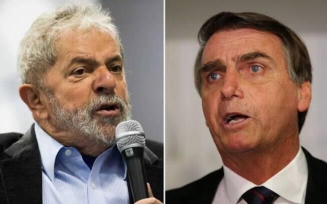 Lula está preso desde o início de abril, em Curitiba; Bolsonaro, por sua vez, é réu em ações no Supremo Tribunal Federal