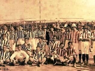 Antes do primeiro Estadual, Atlético e Villa Nova já jogavam, como mostra foto de 14 de julho de 1912