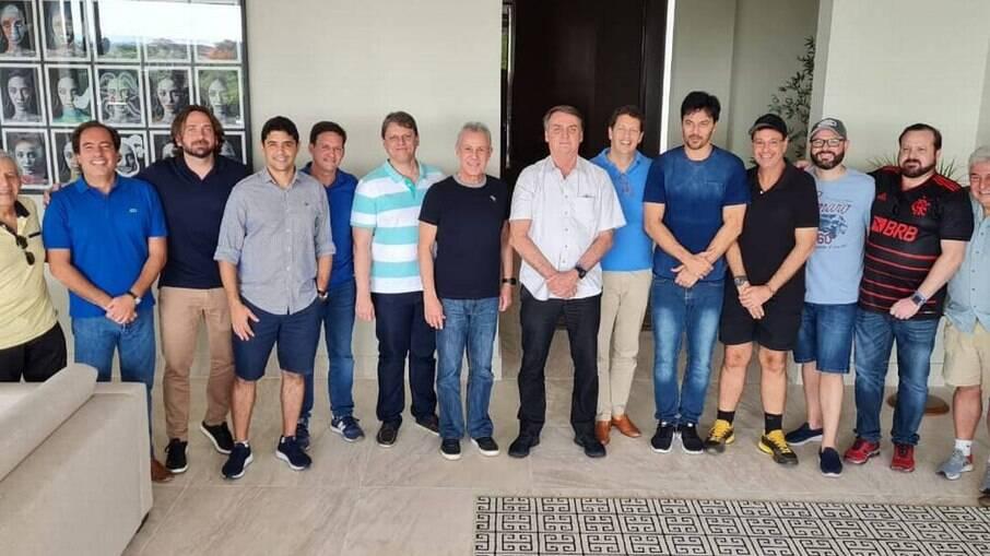 Reunião aconteceu na casa do ministro das Comunicações