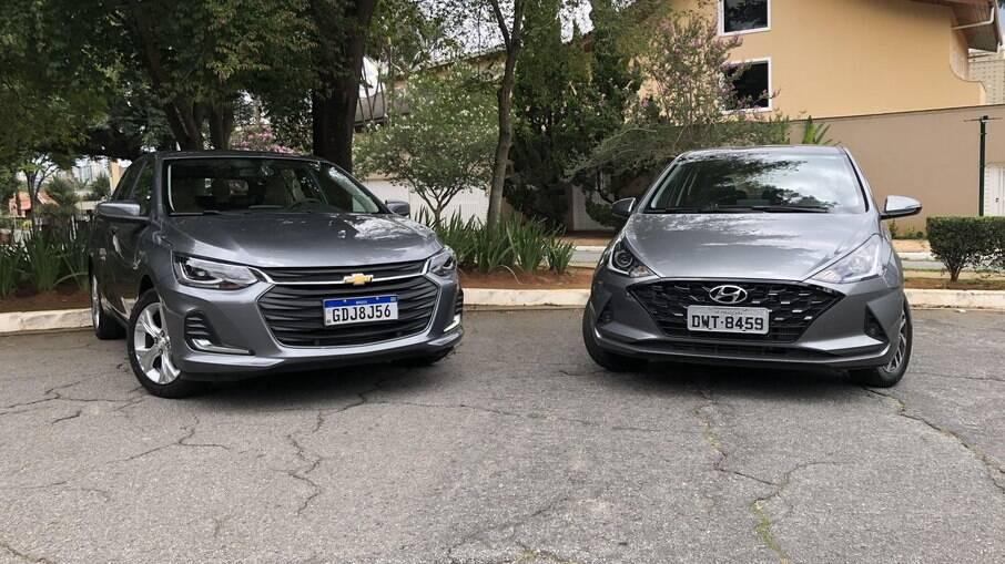Chevrolet Onix Plus x Hyundai HB20 Diamond Plus: hatches de uma nova era são sofisticados, mas passam dos R$ 80 mil