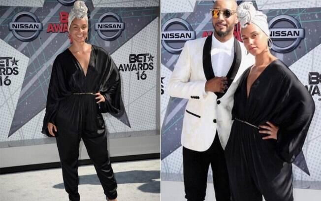 Alicia Keys não usa maquiagem no BET Awards 2016