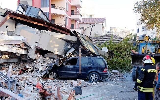 Imagens do terremoto foram divulgadas nas redes