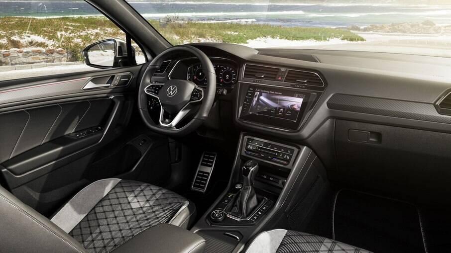 Além dos revestimentos, Tiguan 2022 estreia o novo volante da Volkswagen