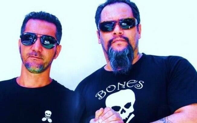 Paulo Livramento e Tilo França, donos da linha de roupa esportiva Bones Original Sportswear