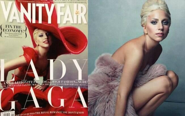 """Lady Gaga para a capa de janeiro de 2012 da """"Vanity Fair"""" americana"""