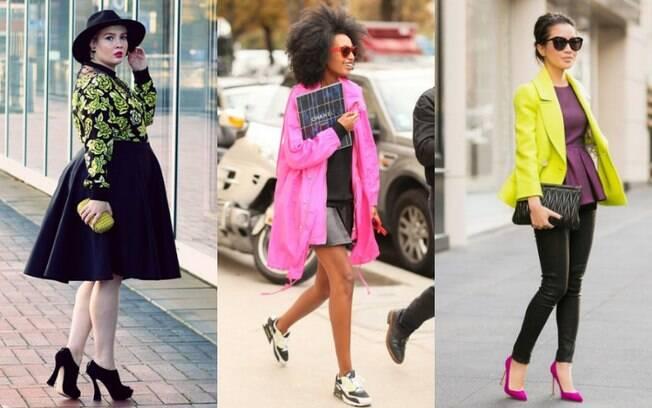 Se quiser aderir à moda da roupa neon, comece aos poucos e tente acrescentar acessórios e pequenos detalhes no look