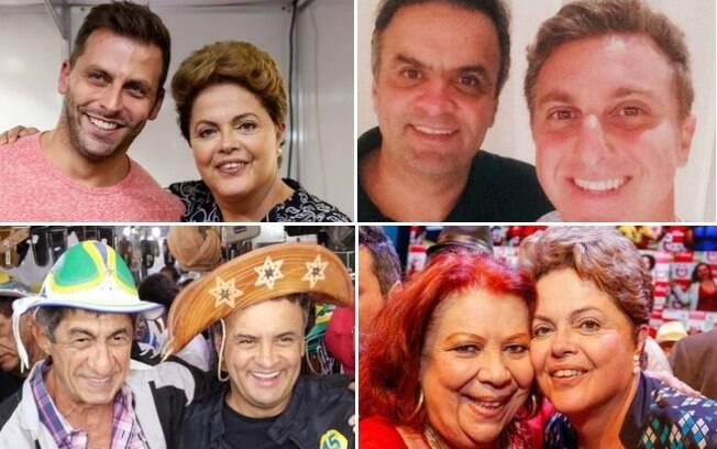 Na busca pelos votos dos eleitores, Dilma Rousseff e Aécio Neves também disputam o apoio de artistas para seus palanques