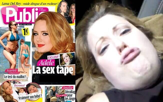 Adele na capa da Public: fotos do suposto vídeo de sexo da cantora