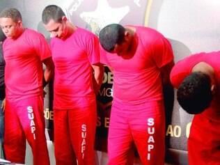 Apresentação. O suspeito Marco Antônio Nogueira chegou a desmaiar durante apresentação ontem