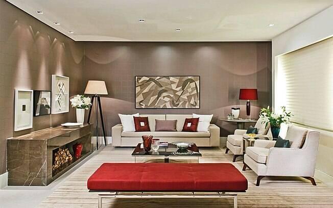 arte e decoracao de interiores: Veiga, a obra de arte possui tons de marrom claro. Foto: Divulgação