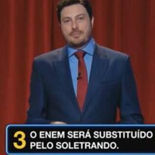 Danilo Gentili satiriza suposta candidatura de Luciano Huck