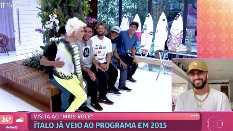 Ítalo Ferreira em participação no programa em 2015