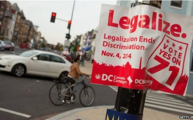 Legalização da maconha em Washington DC causou atrito com Congresso
