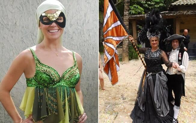 Giovanna Antonelli mascarada e Vera Holtz de porta bandeira: carnaval em