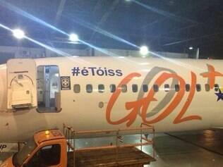 Avião que trará seleção para BH faz menção simbólica a Neymar: #éToiss