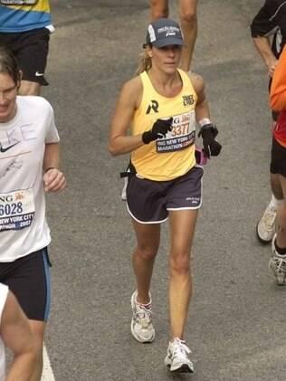 Na Maratona de Nova York, em 2007