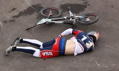 Ciclista sofre hemorragia cerebral após grave acidente em Jogos