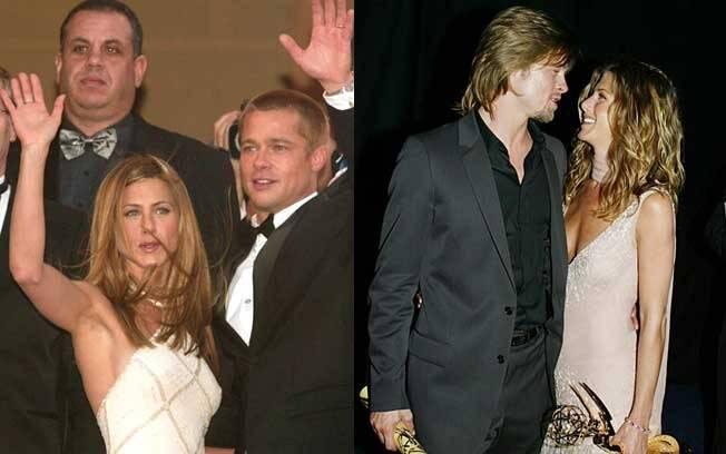 """Na première de """"Tróia"""" no Festival de Cannes, em 2004, e nos prêmios Emmy de 2002, quando ela levou a estatueta de melhor atriz de comédia por Friends"""