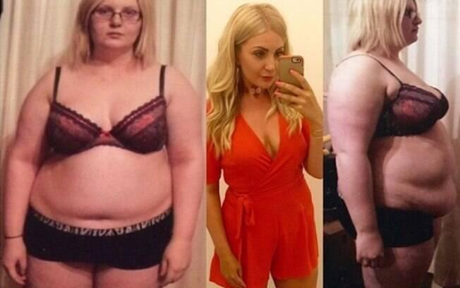 Jenna posta  fotos mostrando o antes e depois de emagrecer para motivar suas seguidoras que querem perder peso