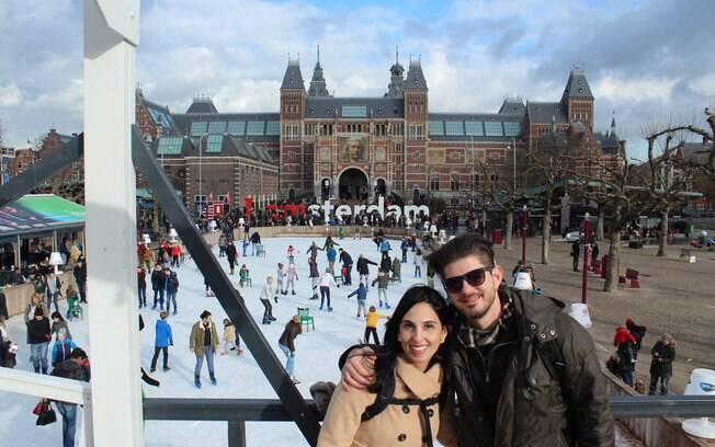 Julia e Vinicius em Amsterdam