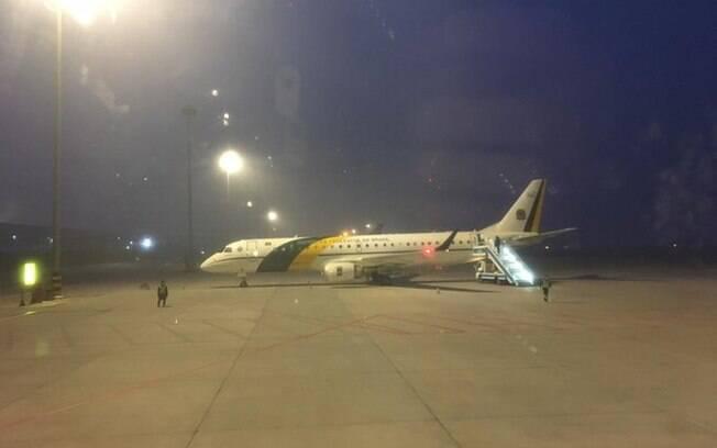 Avião da FAB chegou à China