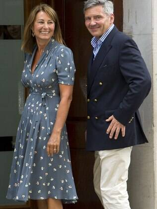 A mãe de Kate Middleton disse que o neto é