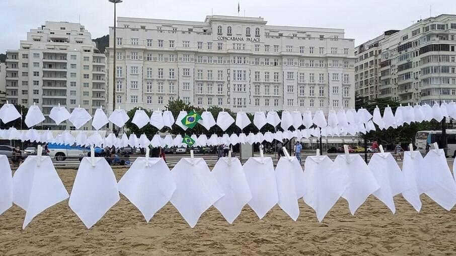 Protesto organizado pela ONG Rio de Paz, em Copacabana