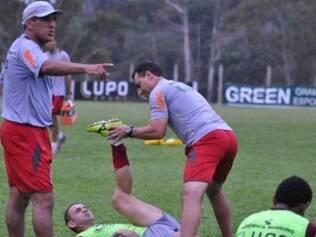 Magrão já realizou o primeiro treinamento ao lado dos companheiros