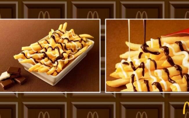 Batatas fritas com chocolate serão lançadas no Japão no dia 26 de janeiro