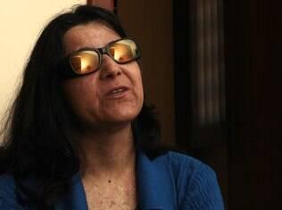 Magnólia, em casa: com apenas 5% da visão, ela espera usar valor da indenização para seguir com o tratamento