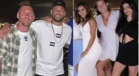 Neymar leva nova affair para jantar com Messi
