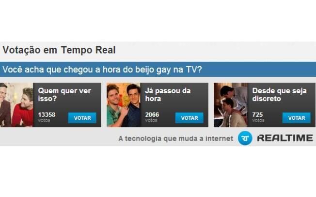 Internautas não querem ver o beijo gay na televisão