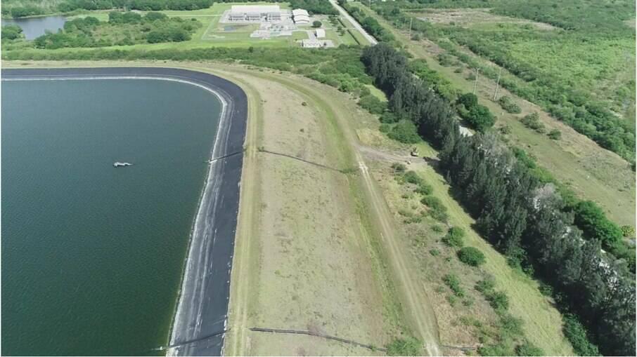 Reservatório de fosfato perto de Tampa, na Flórida, tem risco de colapso