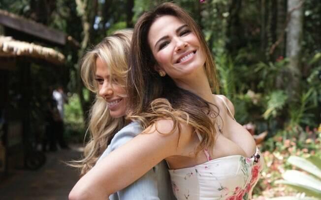 Adriane Galisteu e Luciana Gimenez: melhores amigas?