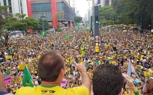 Protesto pró-Bolsonaro em São Paulo