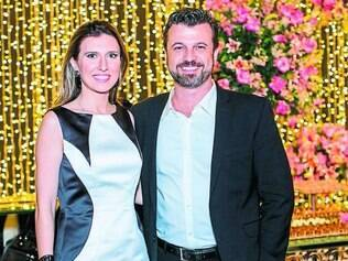 Encontro - A blogueira de casamento Constance Zahn, convidada do 10º Bem Casados, com Fábio de Paula e Silva, organizador do evento, no Domus XX