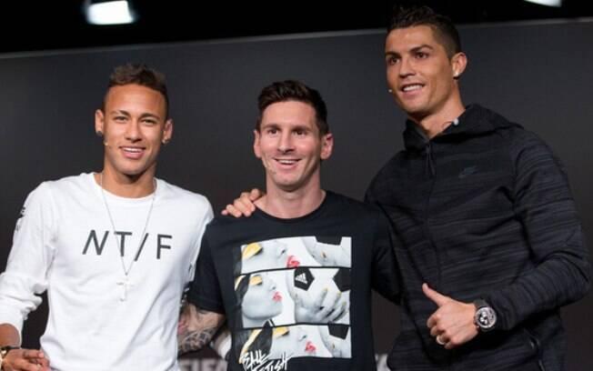 Os três jogadores mais bem pagos do mundo do futebol