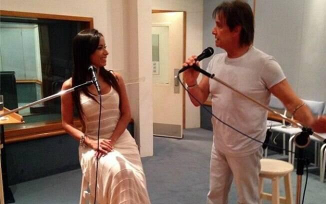 Anitta grava especial com Roberto Carlos