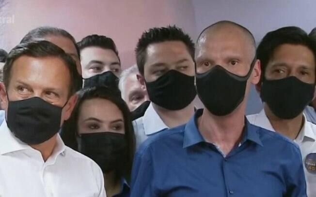 Bruno Covas fez discurso de vitória no diretório municipal do PSDB