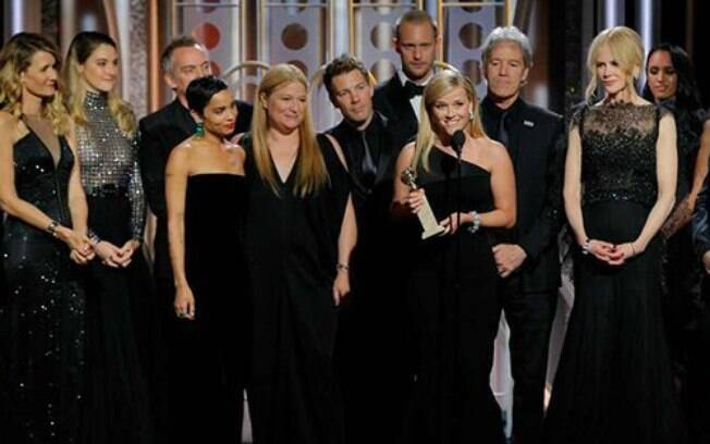 O elenco de Big Little Lies agradece o Globo de Ouro