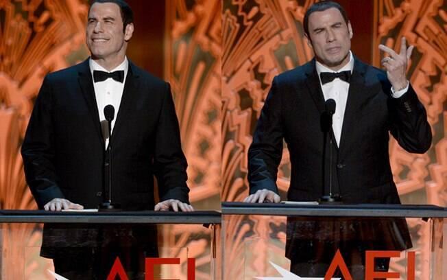 John Travolta em sua primeira aparição pública após escândalo sexual